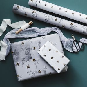 Watercolour Wash Bumblebee Gift Wrap Set