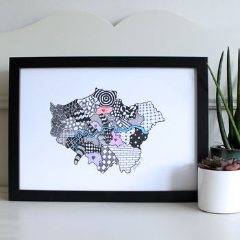 Personalised Map Of London Print