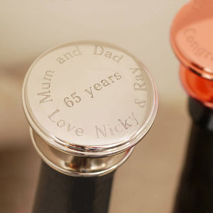 Personalised Wine Bottle Stopper - drinks connoisseur