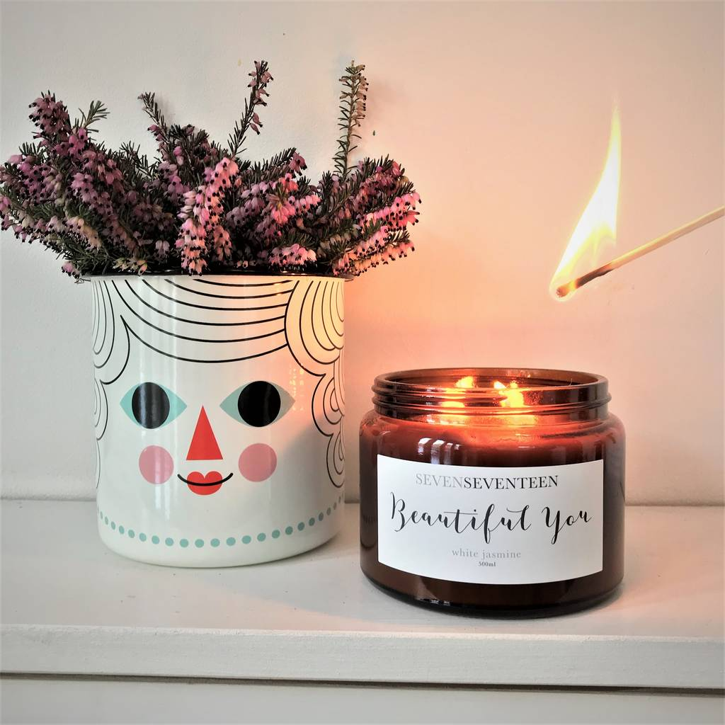 'Beautiful You' White Jasmine Scented Candle