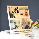 Personalised Gold Metal Freestanding Collage Print