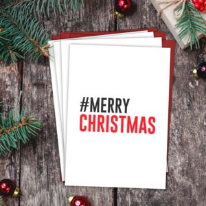 Hashtag Multi Pack Merry Christmas Cards