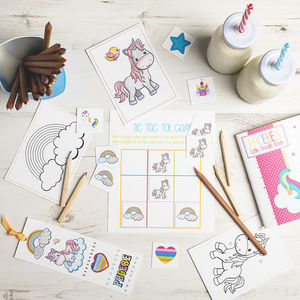 Unicorn Activity Bundle - stationery