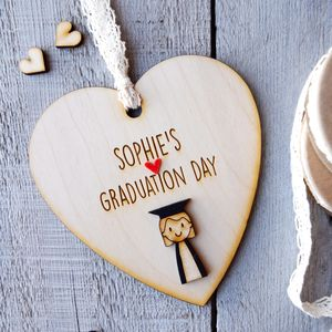 Personalised Girl's Graduation Heart - hanging decorations