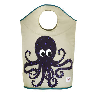 Children's Octopus Laundry Basket - living room