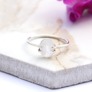 Oriana Sterling Silver Bohemian Moonstone Ring - rings