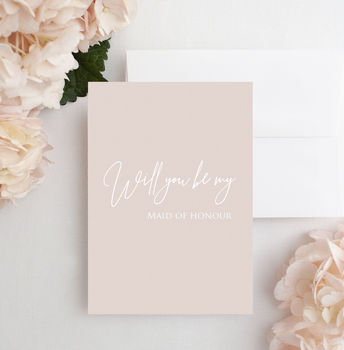 Pink 'Will You Be My Maid Of Honour' Card