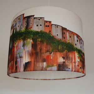 Mediterranean Houses Painting Lampshade