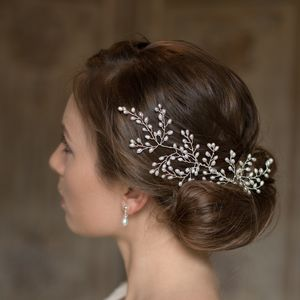 Pearl Fern Hair Vine - bridal hairpieces