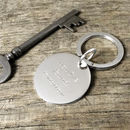 Personalised Round Silver Key Ring
