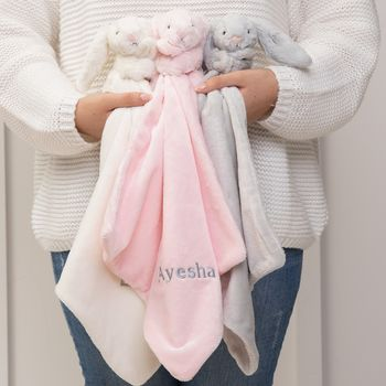 Personalised Bashful Bunny Comforter