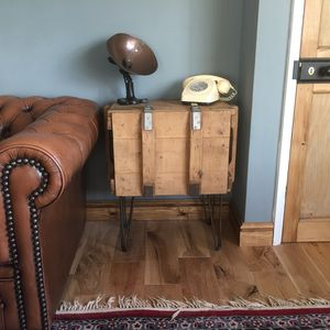 Upcycled Vintage Pine Wooden Trunk Hallway Cupboard
