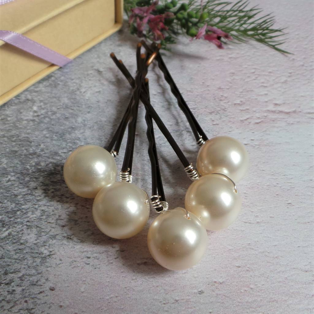 b5f1b3921 bliss large pearl bridal hair pins by jewellery made by me ...