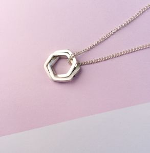 Personalised Silver Geometric Knot Pendant