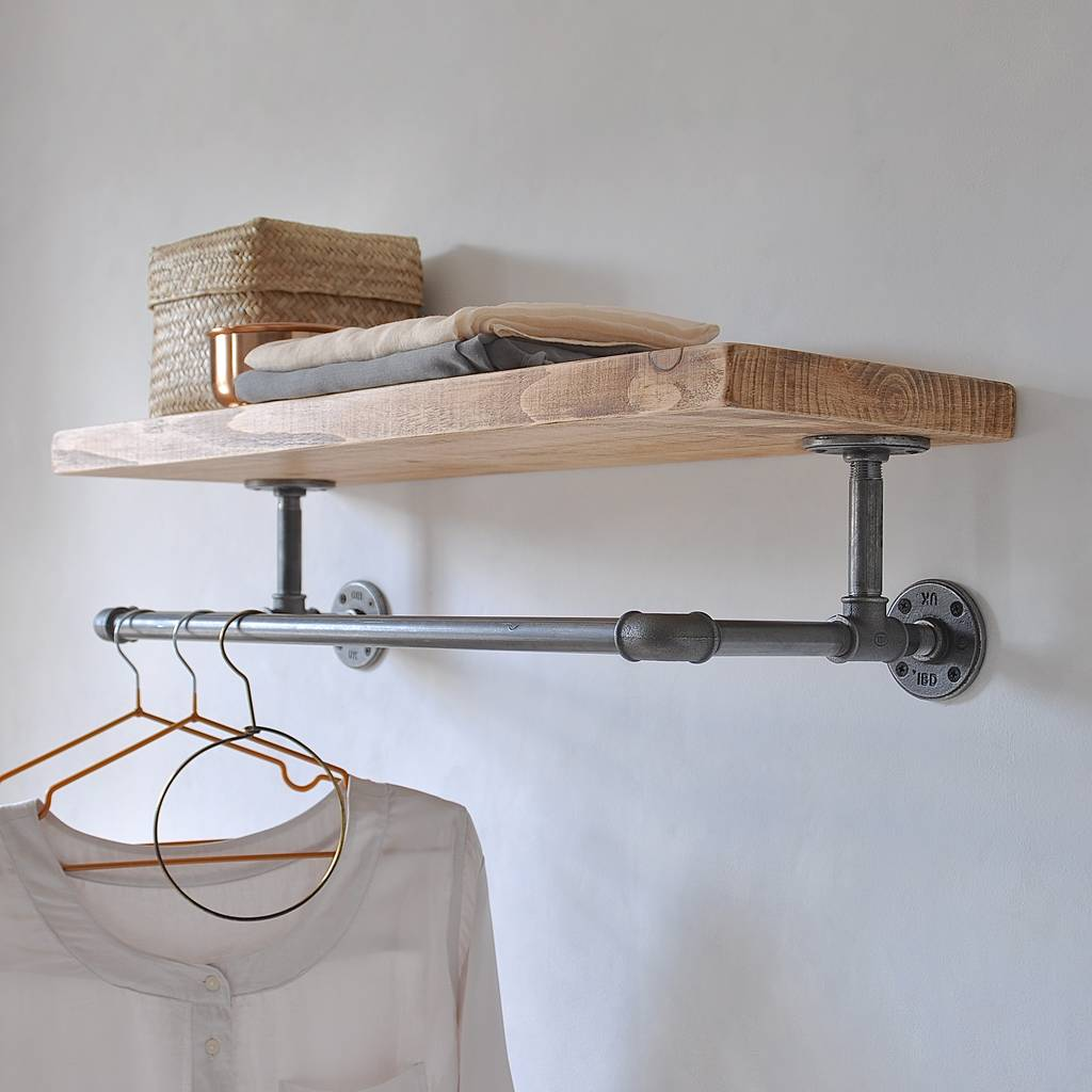 Portobello Industrial Clothes Shelf By Industrial By