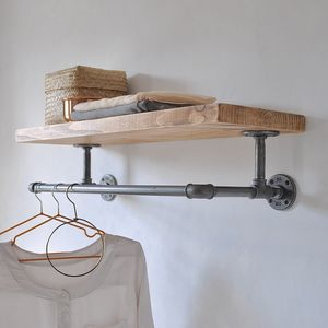 Portobello Industrial Clothes Shelf - bedroom