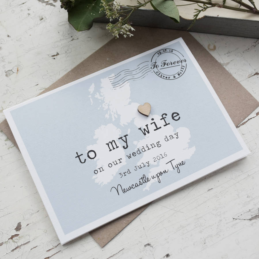 Personalised To My Wife On Our Wedding Day Card