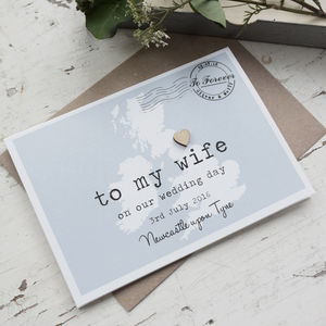 Personalised 'To My Wife' On Our Wedding Day Card - wedding cards