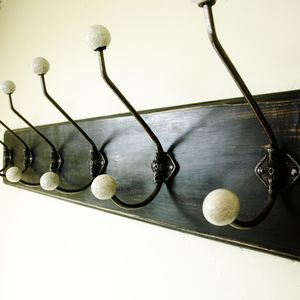 Traditional Vintage Painted Wooden Coat Rack - children's room accessories