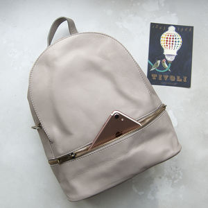 Taupe Soft Leather Rucksack