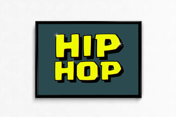 Hip Hop Music Typography Poster