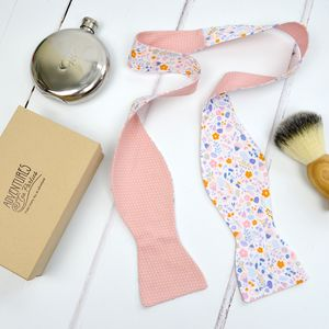 Handmade Mix And Match Bow Tie : Pink Floral
