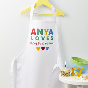 Child's Personalised 'Loves' Apron - gifts for bakers