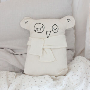 Personalised Baby And Child Owl Cushion With Name