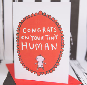 'Congrats On Your Tiny Human' New Baby Card