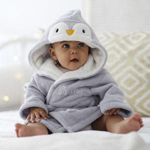 Personalised Penguin Dressing Gown - christmas with free uk delivery