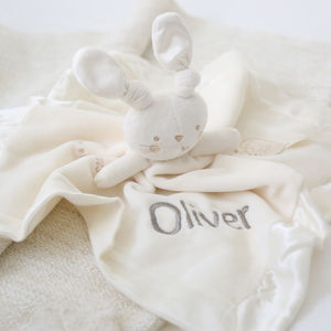 Personalised Bunny Comforter - blankets, comforters & throws