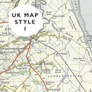 Personalised Map Location Leather Card Holder