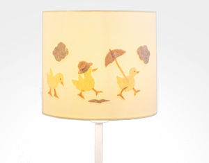 Nursery 3D Appliqué Lampshade Three Little Ducks - bedroom