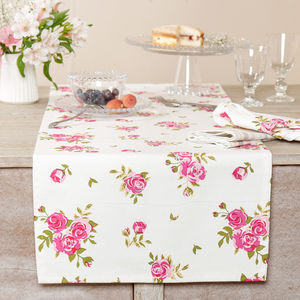 Luxury Summer Floral Napkin And Table Runner Selection - dining room