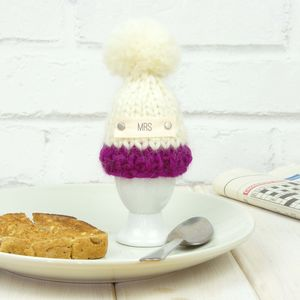 Personalised Colour Block Egg Cup And Cosy - egg cosies