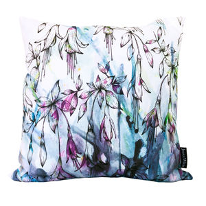 Fuchsia Floral Throw Cushion - patterned cushions
