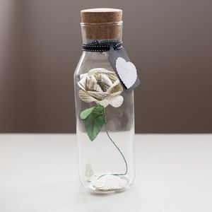 Literary Paper 1st Anniversary Rose - decorative accessories