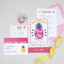 Pink Pineapple Wedding Stationery Set