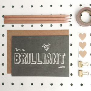 'Brilliant Son' Son Birthday Card - all purpose cards