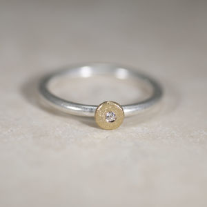 Gold And Silver 'Sun And Star' Ring - rings