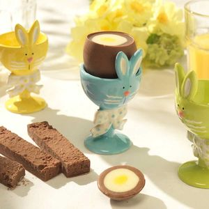 Chocolate Filled Eggs With Bunny Egg Cup