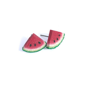 Handmade Watermelon Earring Studs