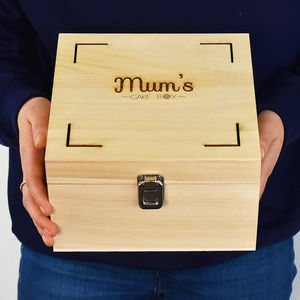 Personalised Wooden Cake Gift Box