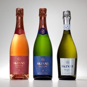 Skinny Prosecco Champagne And Rosé Champagne Trio Pack - wines, beers & spirits