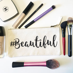 Hashtag Personalised Make Up Bag