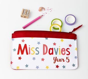 Bright Star Personalised Teacher Pencil Case
