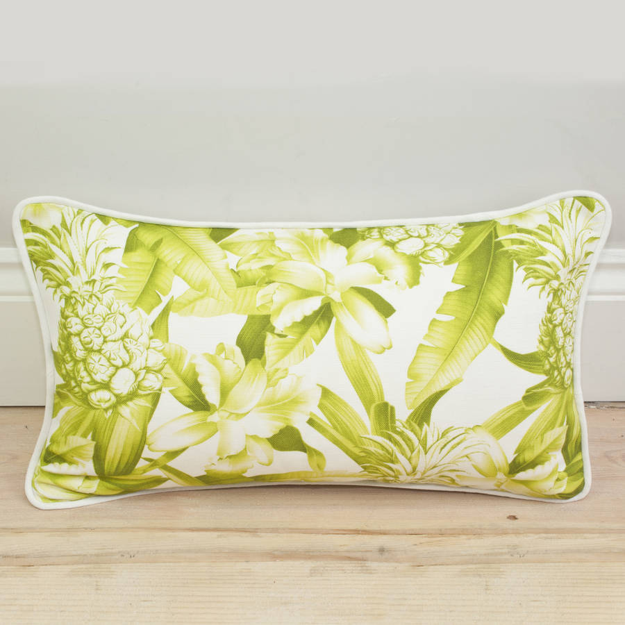 Pineapple Print Bolster Cushion