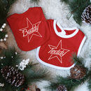 Personalised Star Name Christmas Bib