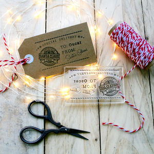 Personalised 'From Santa' Gift Tag Stamp