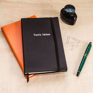 Leather Notebook - personalised